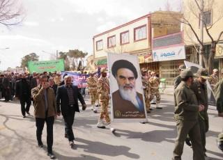 حضور مردم شهرضا در راهپیمایی 22 بهمن+تصاویر
